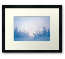 Twilight Snow Framed Print