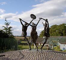 """The Cashel Dancers"",Bru Boru Cultural Centre,Rock of Cashel,Co. Tipperary. by Pat Duggan"