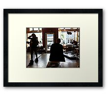 Superheroes and thinkers in Portland Framed Print