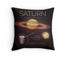 Planet Saturn Infographic NASA Throw Pillow