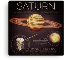 Planet Saturn Infographic NASA Canvas Print
