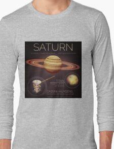 Planet Saturn Infographic NASA Long Sleeve T-Shirt