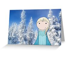 Frozen -- Let It Go Greeting Card