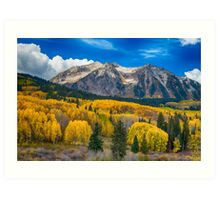 Colorado Rocky Mountain Autumn Season Beauty Art Print