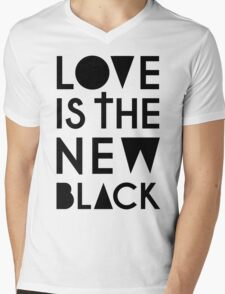LOVE IS THE NEW BLACK Mens V-Neck T-Shirt