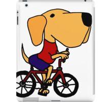 Funny Yellow Labrador Riding Bicycle iPad Case/Skin
