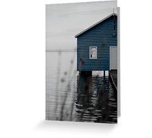 """Crawley Edge"" Boat Shed Greeting Card"