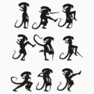 Ministry of Alien Silly Walks (Black Version) by Vincent Carrozza