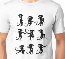 Ministry of Alien Silly Walks (Black Version) Unisex T-Shirt