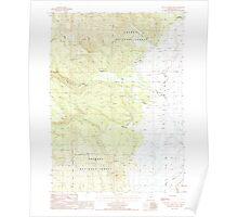 USGS Topo Map Oregon Sycan Marsh West 281732 1988 24000 Poster