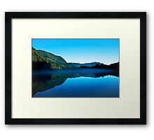 Gorilla Creek in the mist Framed Print
