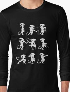 Ministry of Alien Silly Walks (White Version) Long Sleeve T-Shirt