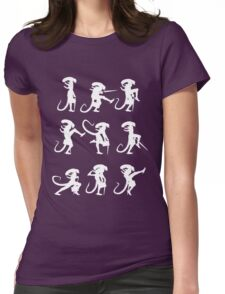 Ministry of Alien Silly Walks (White Version) Womens Fitted T-Shirt