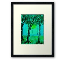 Going into the mist, watercolor Framed Print