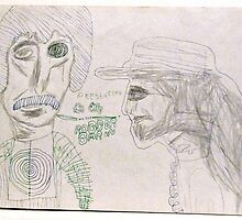 Presenting Dr. City & The Robber Baron ~ 1970 Sketch by Stacey Lazarus