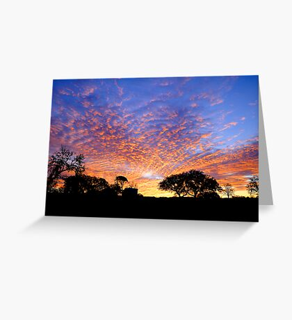 Texas Hill Country Morning Greeting Card