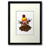 Makin' mudpies! Framed Print