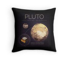 Planet Pluto Infographic NASA Throw Pillow