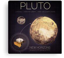 Planet Pluto Infographic NASA Canvas Print