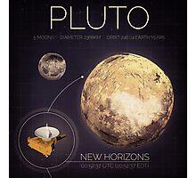Planet Pluto Infographic NASA Photographic Print