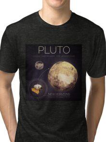 Planet Pluto Infographic NASA Tri-blend T-Shirt