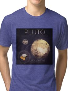 Planet Pluto Infographic NASA Tri-blend T-Shirt