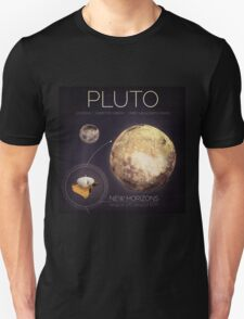 Planet Pluto Infographic NASA Unisex T-Shirt