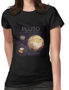 Planet Pluto Infographic NASA Womens Fitted T-Shirt