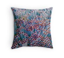 Pipes into Bubbles ~ pillow collection Throw Pillow