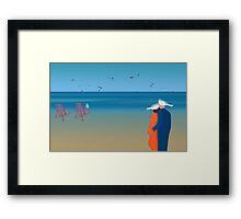 Seagulls - day 20 Framed Print