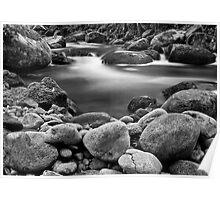 Taggerty river rocks Poster