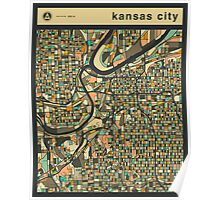 KANSAS CITY MAP Poster