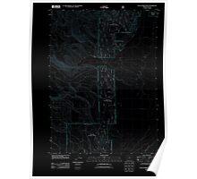 USGS Topo Map Oregon Sycan Marsh West 20110808 TM Inverted Poster
