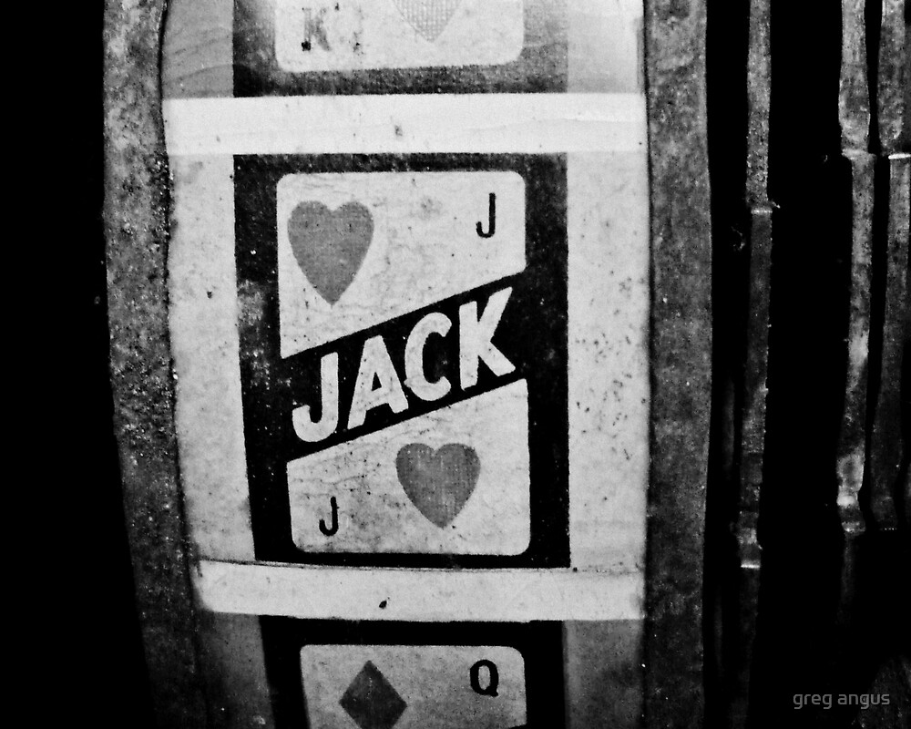 jack of hearts: vintage poker machine by greg angus