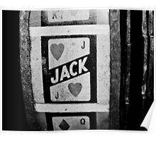 jack of hearts: vintage poker machine Poster