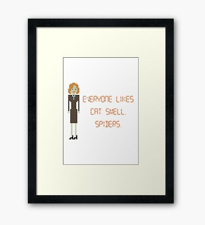 The IT Crowd – Everyone Likes Cat Smell. Spiders. Framed Print