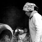 roasting nuts (in mini cement mixer). by geof