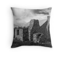 ruined dwelling Throw Pillow