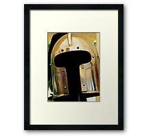 Medieval Barbuta helmet Framed Print