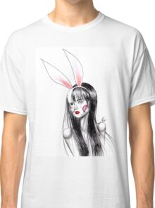 Girl with bunny ears Classic T-Shirt