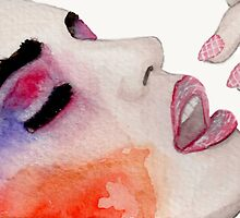 """""""Faces of Fashion"""" No.3 Fashion Illustration by Chelsea Easley"""