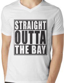 Straight Outta The Bay Mens V-Neck T-Shirt