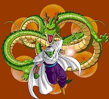 Dragon Ball Z Shenron and Piccolo by J. Danion