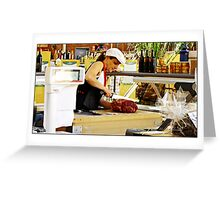 """"""" The French Butchers shop"""" Greeting Card"""