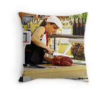 """ The French Butchers shop"" Throw Pillow"