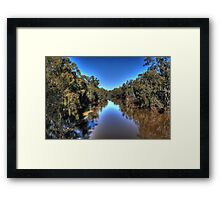 Looking down the Goulburn Framed Print
