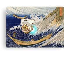 Thousand Sunny Hokusai Burst Canvas Print