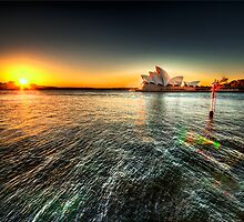 Glowing Opera House by Rodney Trenchard