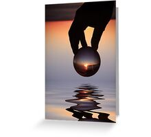 The world in his hands. Greeting Card