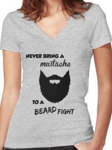 Funny Bearded Shirt Women's Fitted V-Neck T-Shirt